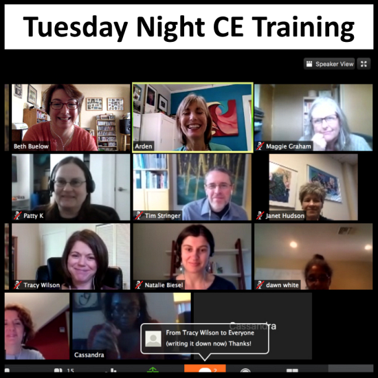 Tuesday Night CE Training